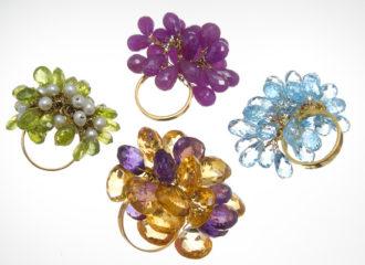 ديما رشيد تطوع الأحجار الكريمة وتحولها الى مجوهرات