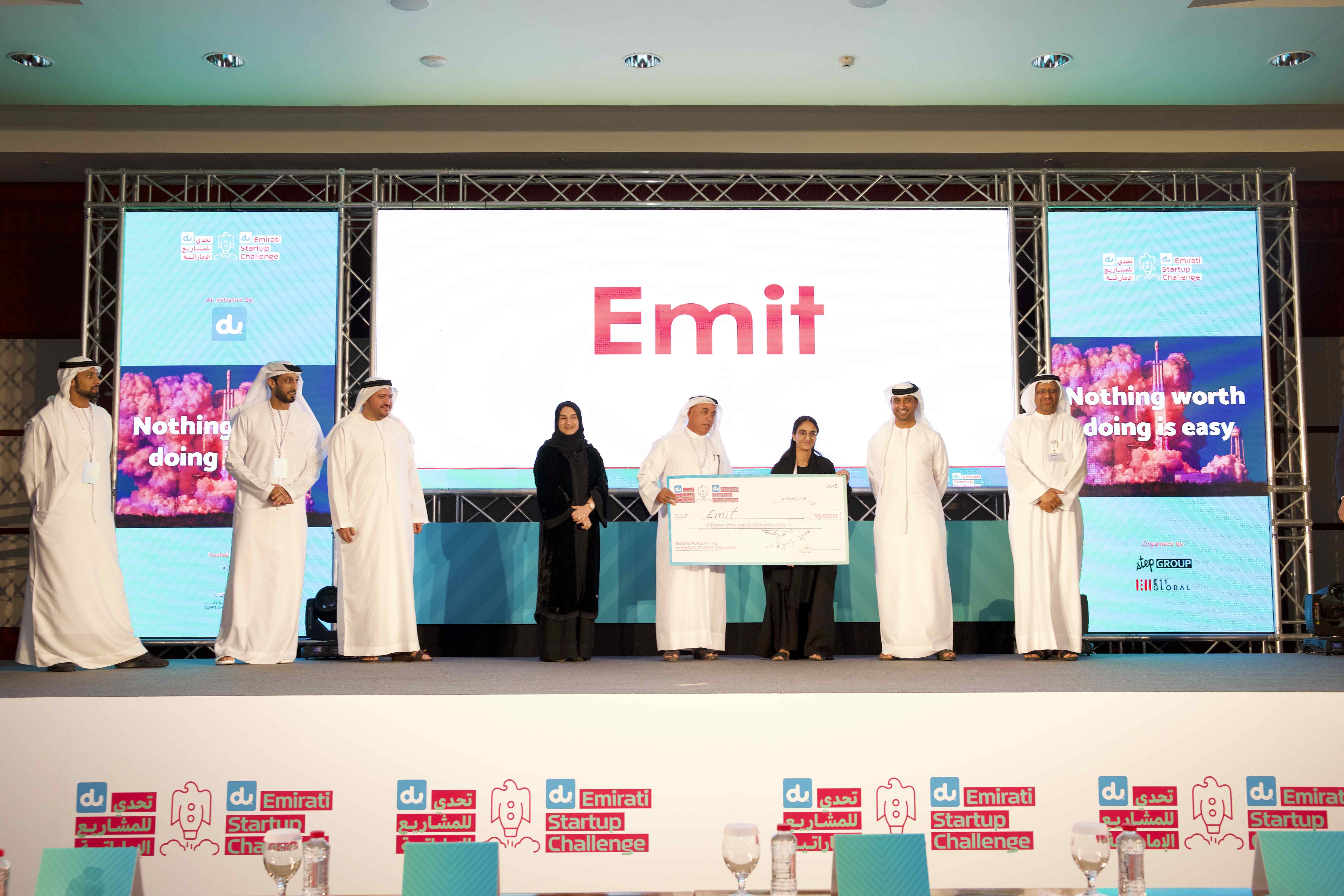 الفائزون في تحدي دو للمشاريع الناشئة الاماراتية