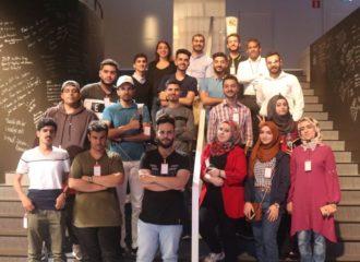 طلاب من المنطقة يطلعون على جديد التقنية في مقر شركة إريكسون في السويد